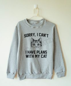 I Have Plant With My Cat Sweatshirt LP01