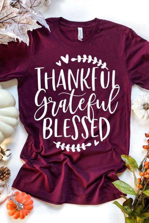 Thankful Grateful Blessed Tee KH01