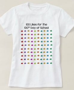 100 Like Days Of School T-Shirt SR01