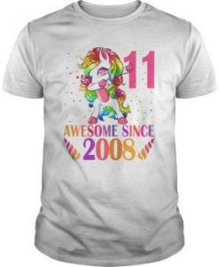 11th Birthday Unicorn Dabbing T-Shirt EL01