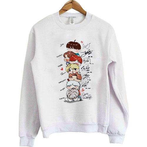 BTS Chibi Signatures Sweatshirt AZ25N