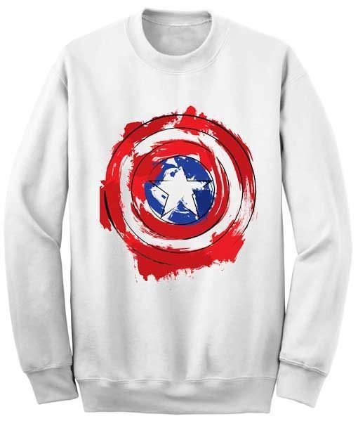 Captain America Shield Sweatshirt AZ25N