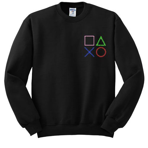 Cut Out Playstation sweatshirt ER26N