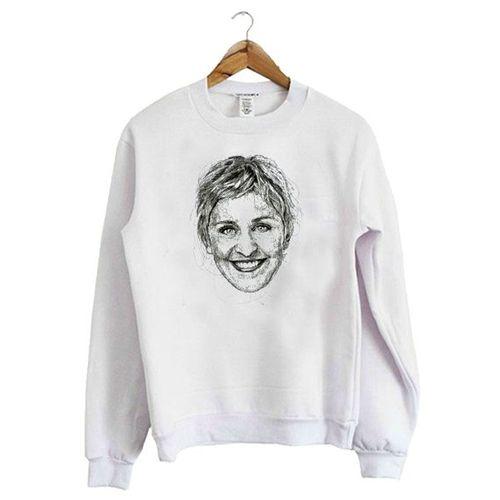 Ellen Degeneres White Sweatshirt AZ25N