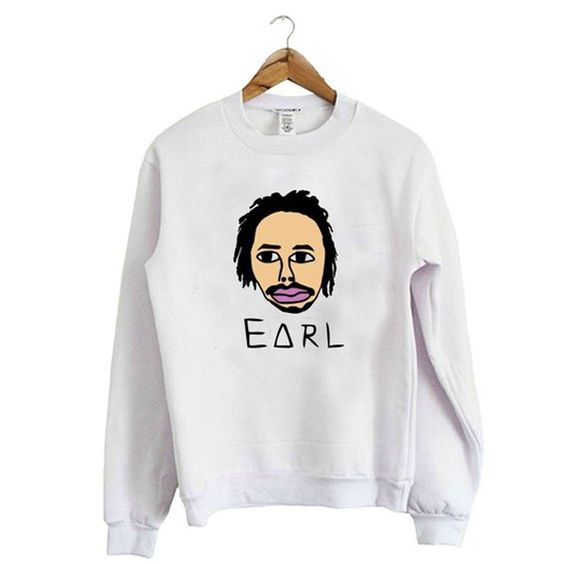 Face Earl White Sweatshirt AZ25N