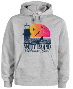 amity island welcomes you hoodie FD28N