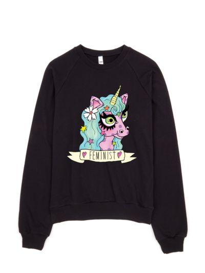 feminist unicron sweatshirt N27EV