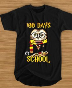 100 Days Owl of school tshirt FD2D