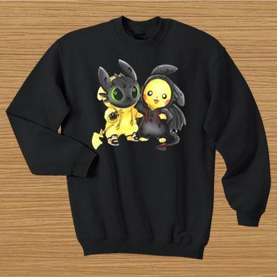 Baby Toothless Pikachu Sweatshirt VL4D
