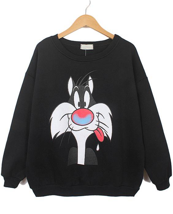 Cat Sweatshirt EM5D