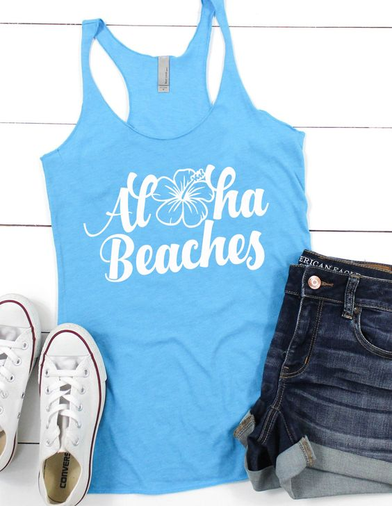 Aloha Beaches Tank Top SR17J0