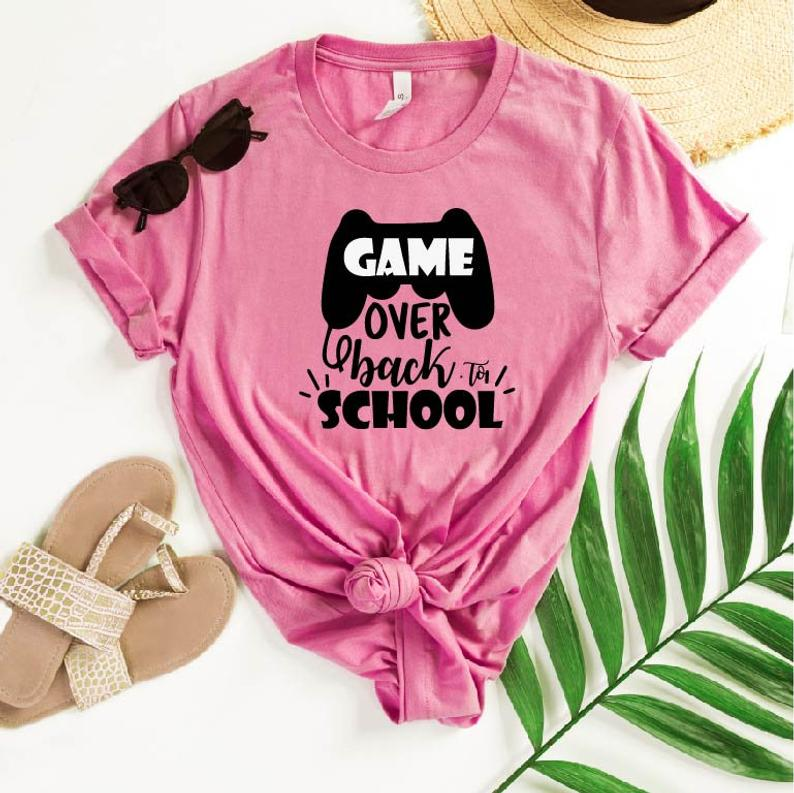 Game Over Go Back To School T-shirt ZR16JL0